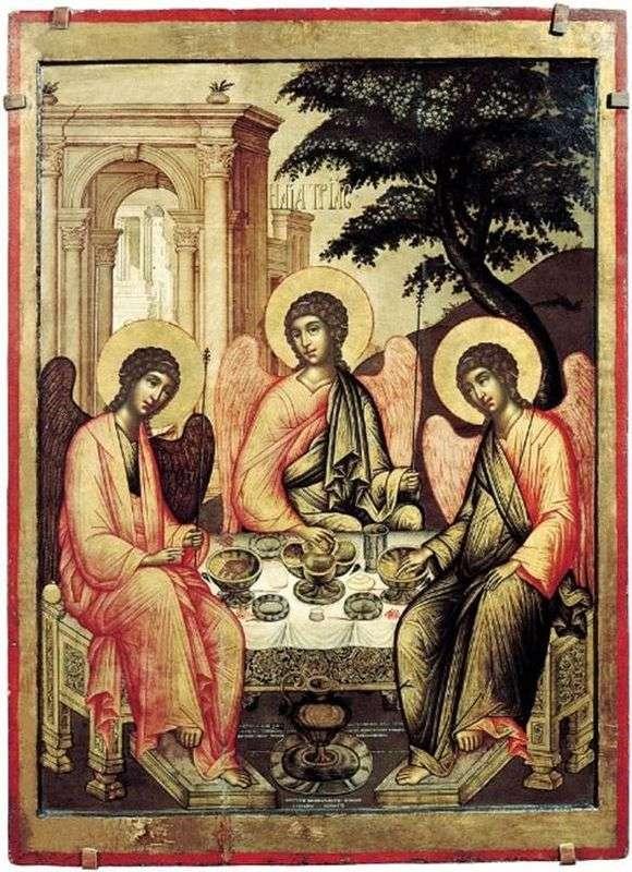 Описание иконы Симона Ушакова «Троица ветхозаветная»