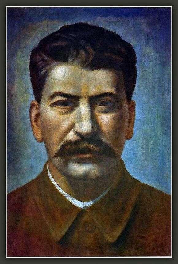 Описание картины Павла Филонова «Портрет Иосифа Сталина»