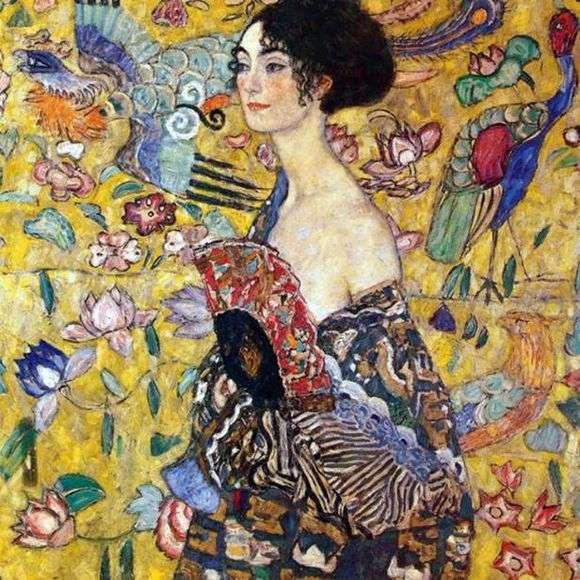 Описание картины Густава Климта «Дама с веером»