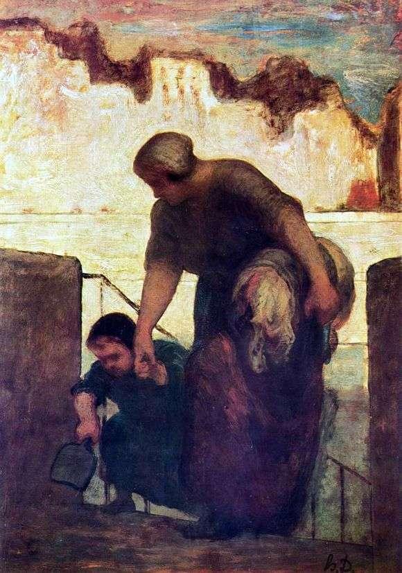 Описание картины Оноре Домье «Прачка»