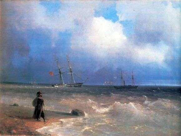 Описание картины Ивана Айвазовского «Морской берег»