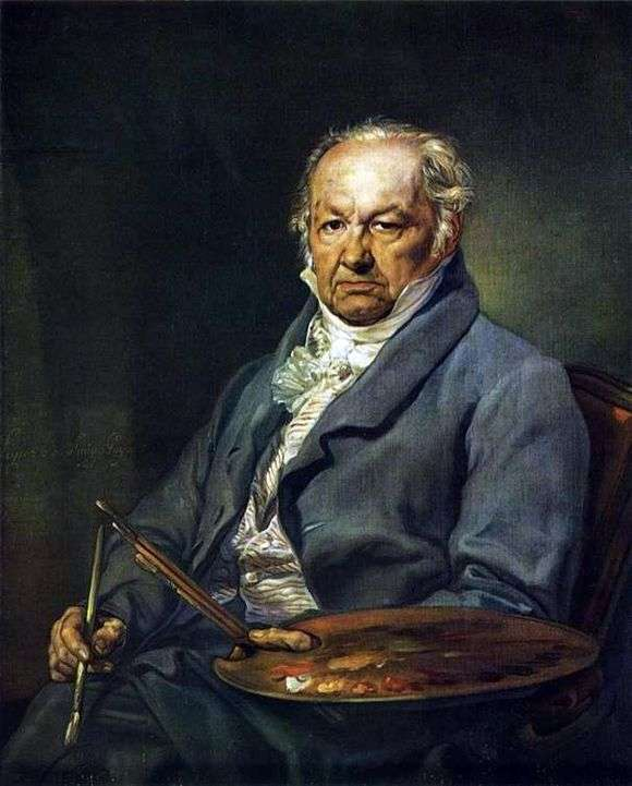 Описание картины Франциско де Гойя «Автопортрет»