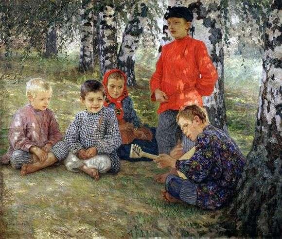 Описание картины Николая Богданова Бельского «Виртуоз»