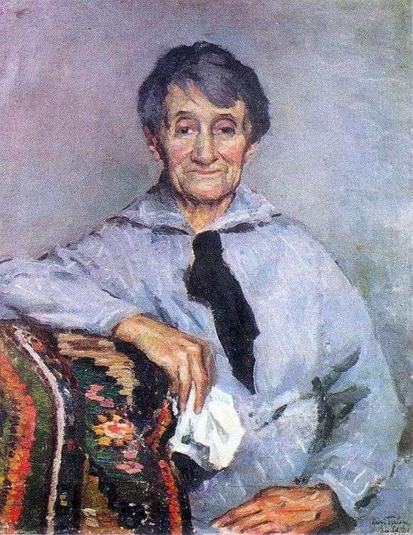 Описание картины Игоря Грабаря «Портрет О. Грабарь Добрянской, матери художника»