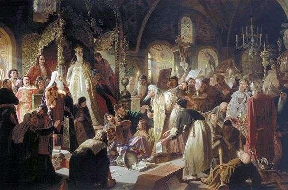 Описание картины Василия Перова «Спор о вере»
