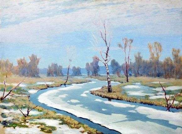 Описание картины Архипа Куинджи «Ранняя весна»