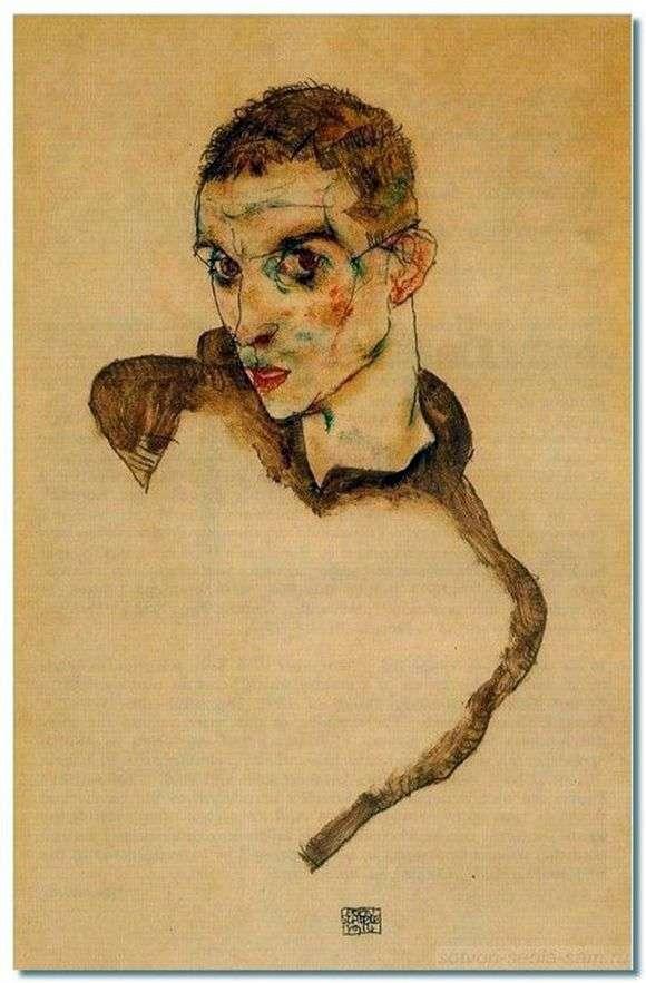 Описание картины Эгона Шиле «Любовь»