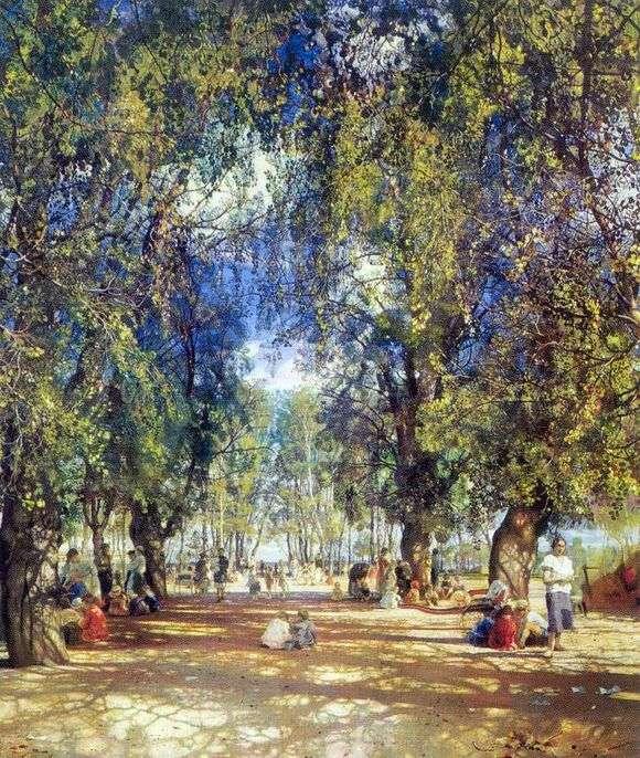 Описание картины Исаака Бродского «Алея парка»