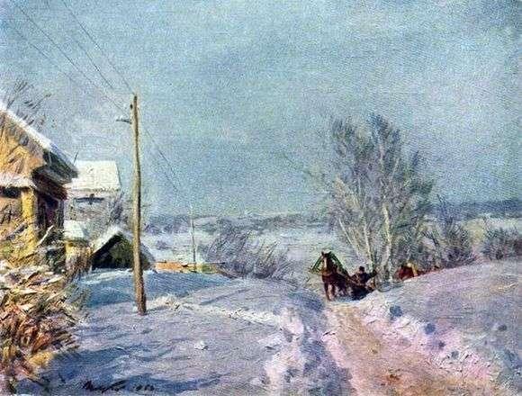 Описание картины Виктора Цыплакова «Мороз и солнце»