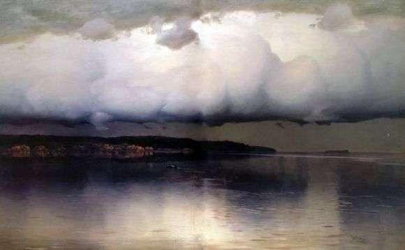 Описание картины Николая Дубовского «Притихло»