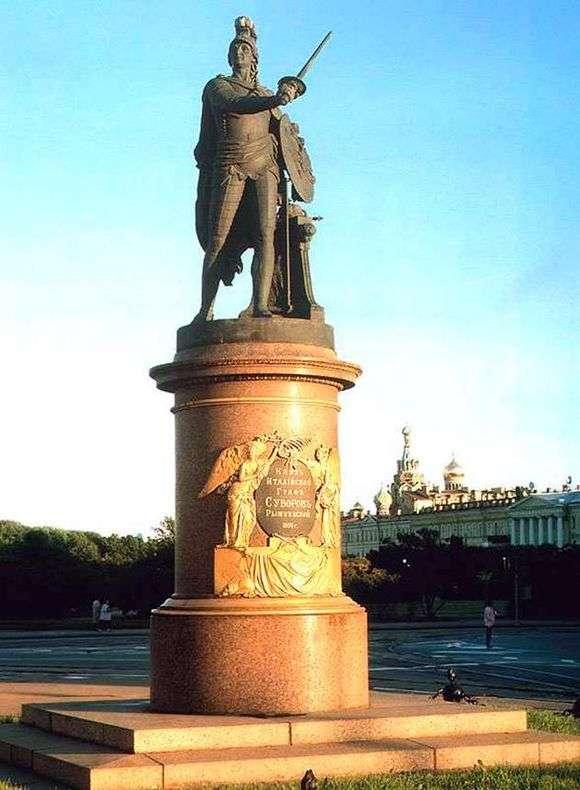 Описание памятника Суворову в Санкт Петербурге