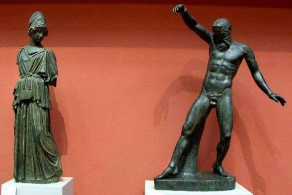 Описание скульптуры Мирона «Афина и Марсий»