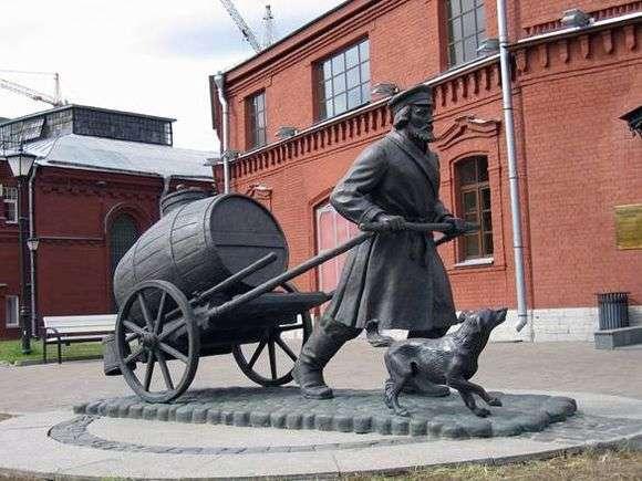 Описание памятника водовозу в Санкт Петербурге