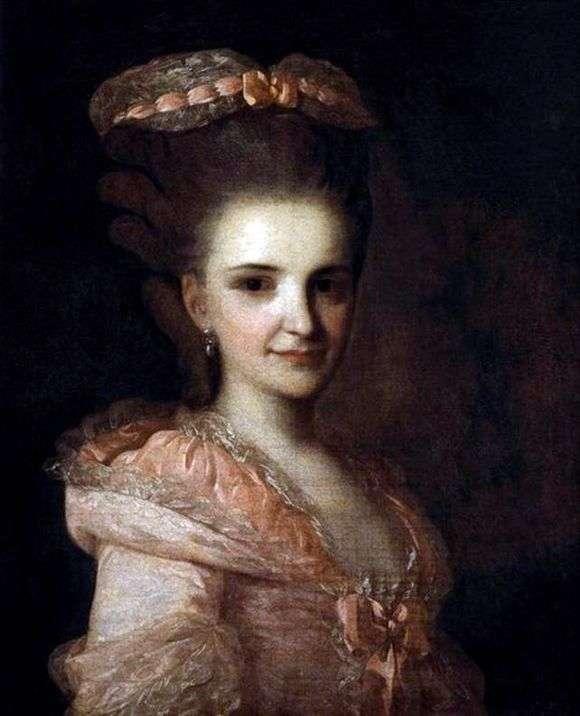 Описание картины Федора Рокотова «Портрет неизвестной в розовом платье»