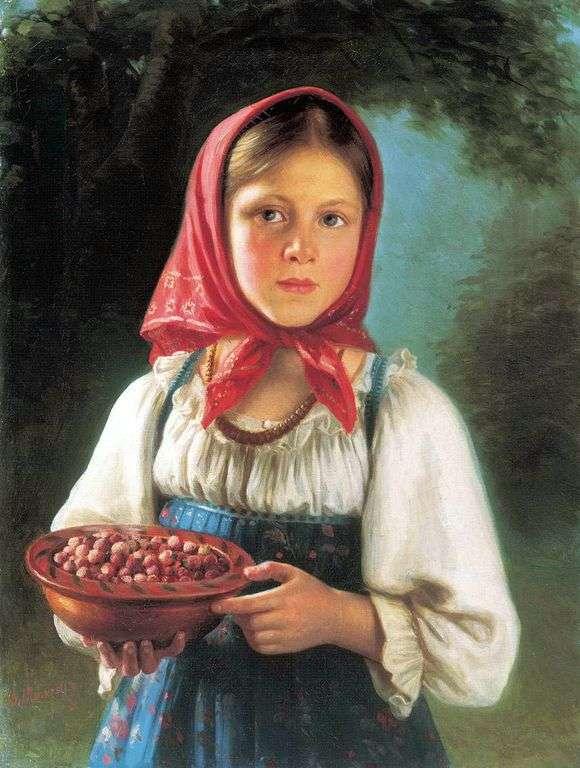 Описание картины Василия Тимофеева «Девочка с ягодами»