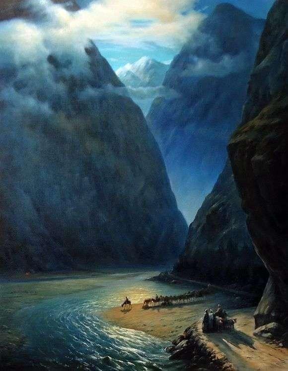 Описание картины Ивана Айвазовского «Дарьяльское ущелье»