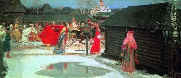 Описание картины Андрея Рябушкина «Свадебный поезд в Москве (XVII столетие)»