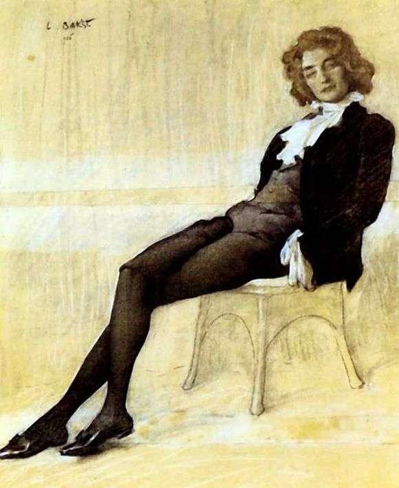 Описание картины Леона Бакста «Портрет Зинаиды Гиппиус»