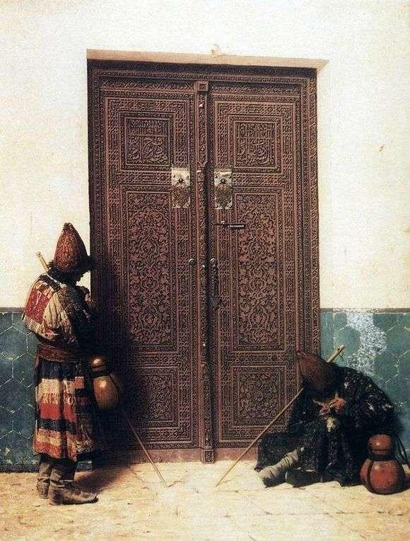 Описание картины Василия Верещагина «У дверей мечети»