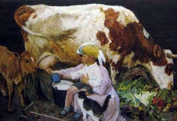 Описание картины Аркадия Пластова «В деревне»