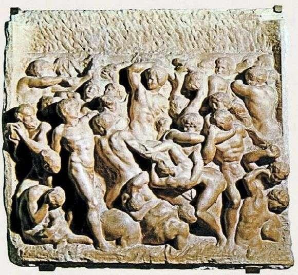 Описание барельефа Микеланджело Буанарротти «Битва кентавров»