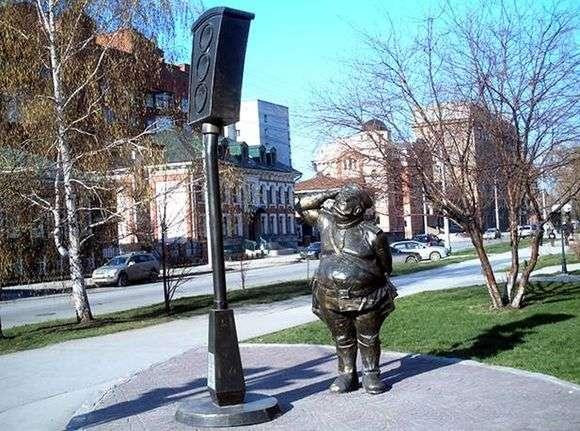 Описание памятника светофору в Новосибирске