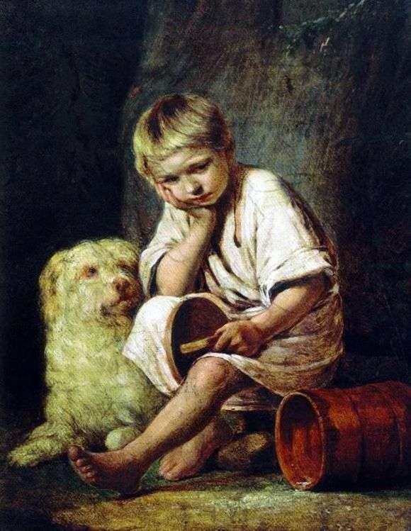 Описание картины Алексея Венецианова «Вот те и батькин обед!»
