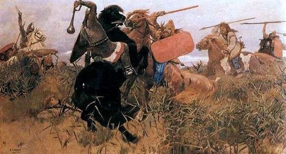 Описание картины Виктора Васнецова «Бой скифов со славянами»