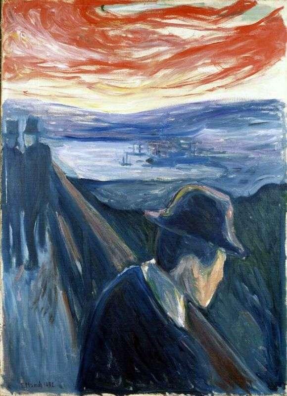 Описание картины Эдварда Мунка «Отчаяние»