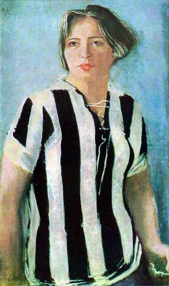 Описание картины Александра Самохвалова «Девушка в футболке»