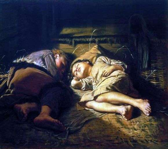 Описание картины Василия Перова «Спящие дети»