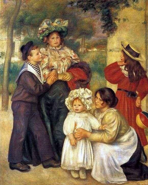 Описание картины Пьера Огюста Ренуара «Семья Ренуара»