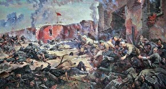 Описание картины Петра Кривоногова «Защитники Брестской крепости»