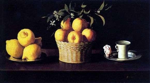 Описание картины Франсиско де Сурбарана «Натюрморт с лимонами и апельсинами»