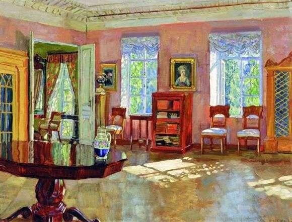 Описание картины Станислава Жуковского «Интерьер библиотеки помещичьего дома»