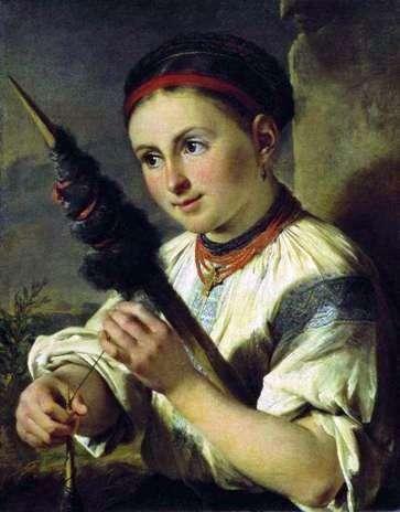 Описание картины Василия Тропинина «Пряха»