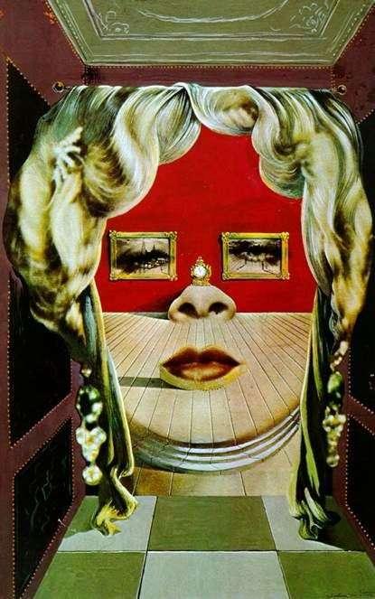 Описание картины Сальвадора Дали «Лицо Мэй Уэст»