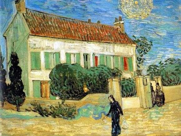 Описание картины Винсента Ван Гога «Белый дом ночью»