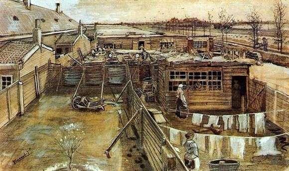 Описание картины Винсента Ван Гога «Задворки»