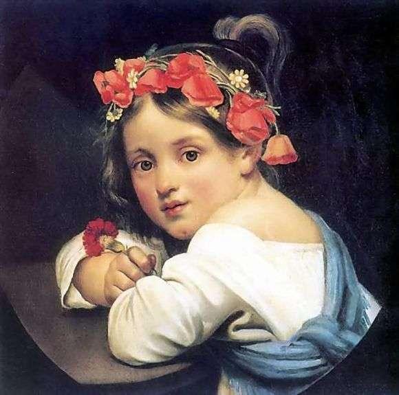 Описание картины Ореста Кипренского «Девочка в маковом венке»