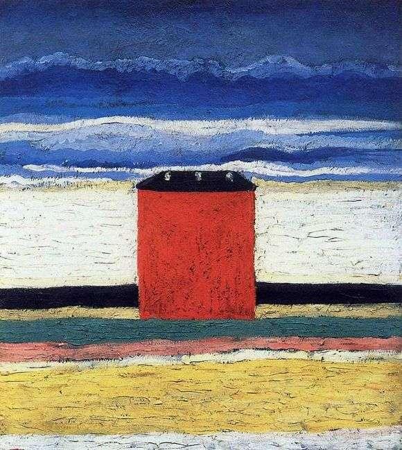 Описание картины Казимира Малевича «Красный дом»