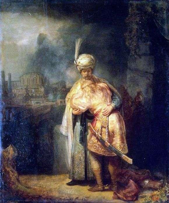 Описание картины Рембрандта «Давид и Ионафан»