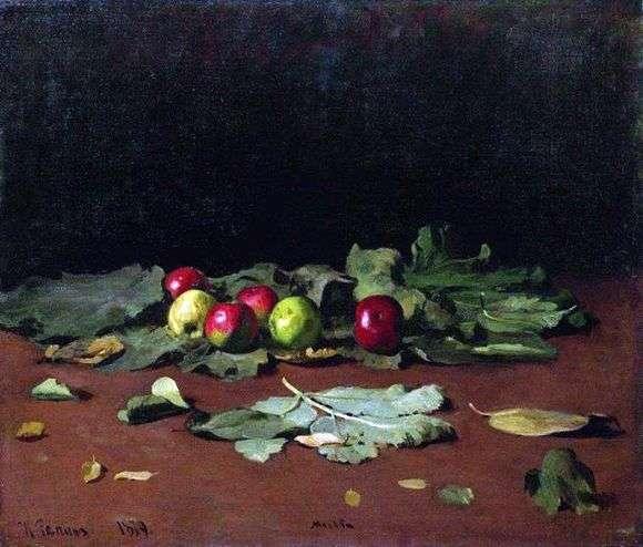 Описание картины Ильи Репина «Яблоки и листья»