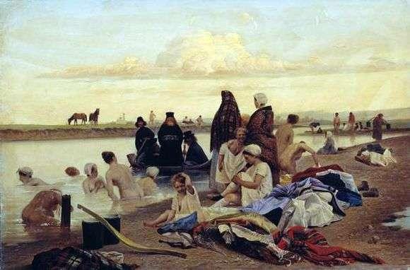 Описание картины Льва Соловьева «Монахи не туда заехали»