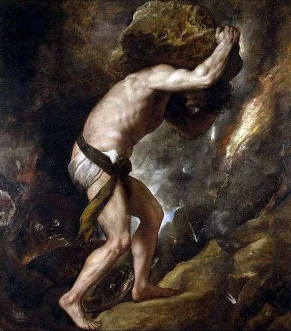 Описание картины Тициана «Сизиф»