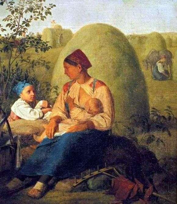 Описание картины Алексея Венецианова «Сенокос»