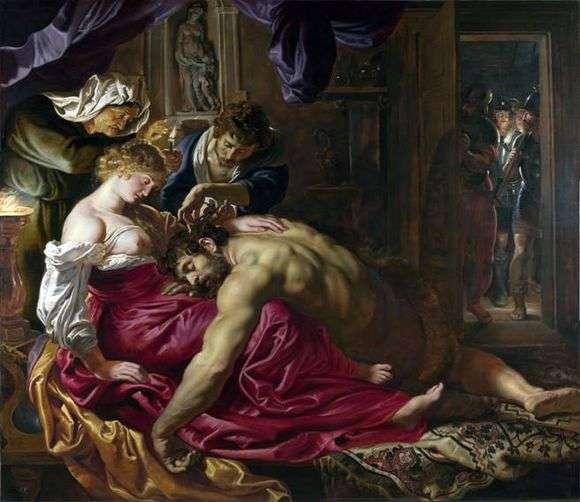 Описание картины Питера Рубенса «Самсон и Далила»