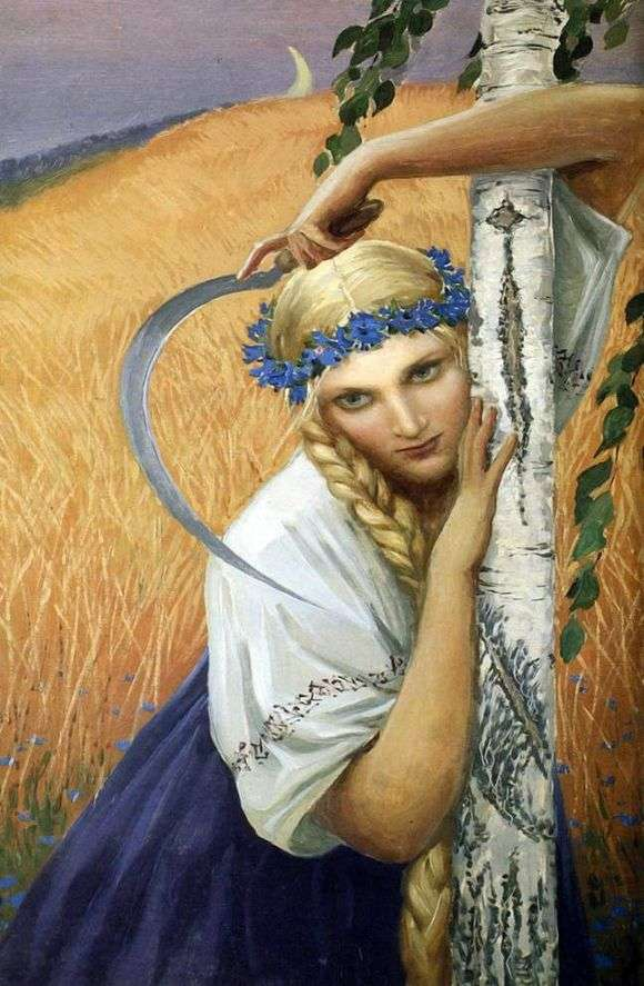 Описание картины Константина Васильева «Жница»