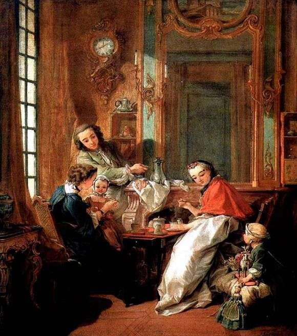 Описание картины Франсуа Буше «Завтрак»