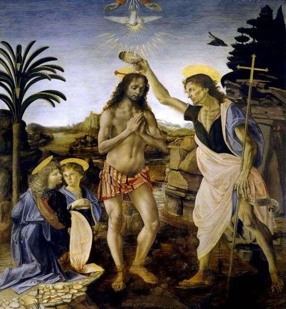 Описание картины Андреа Верроккьо «Крещение Христа»